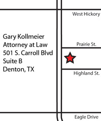 map to Gary Kollmeier, Attorney at Law